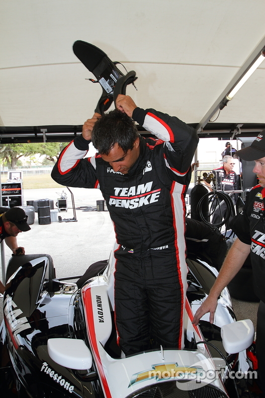 Juan Pablo Montoya testa a Team Penske Chevrolet