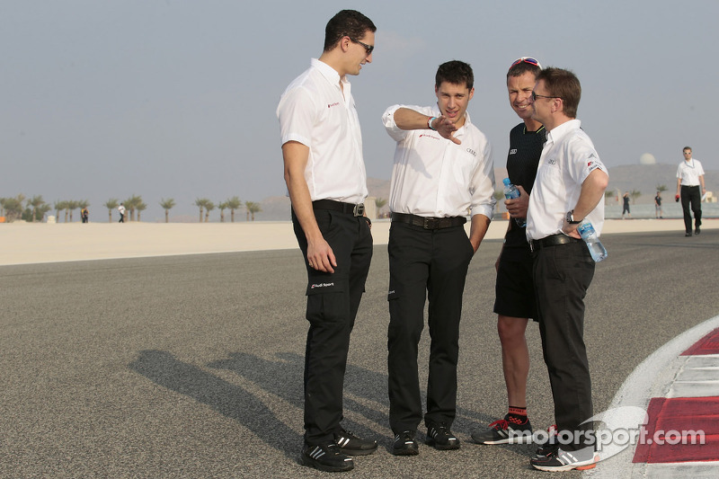 Loic Duval, Tom Kristensen and Allan McNish
