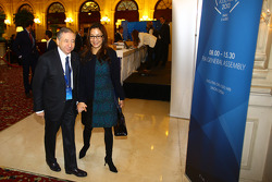 Jean Todt, FIA President with his wife Michelle Yeoh