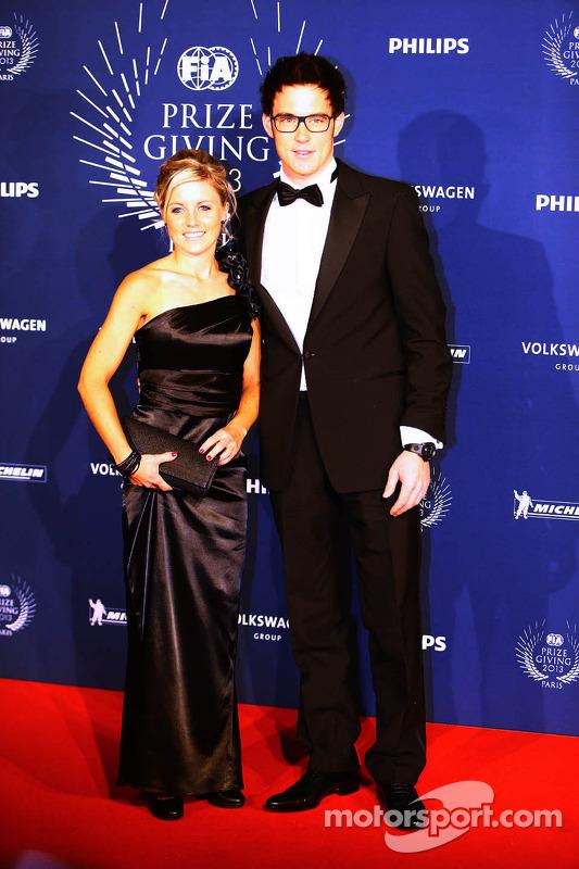 Thierry Neuville, e sua esposa