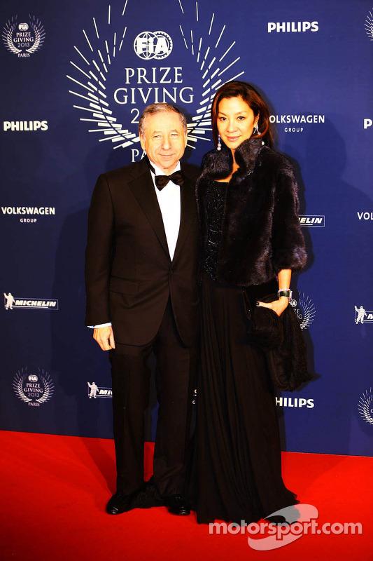 Jean Todt, Presidente da FIA com sua esposa Michelle Yeoh