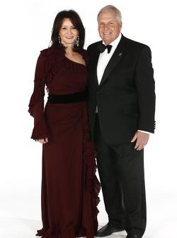 Team owner Rick Hendrick and his wife Linda
