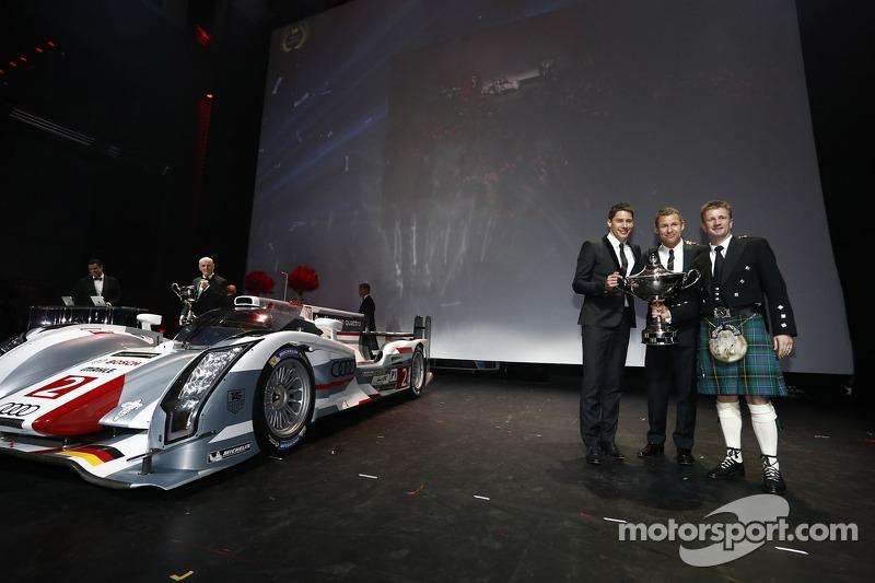 Loic Duval, Tom Kristensen, Allan McNish, Audi Motorsport
