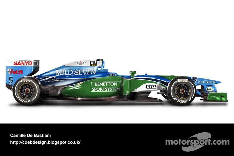 Carro de F1 retrô - Benetton 1994