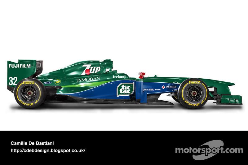 Formel-1-Auto im Retrodesign: Jordan 1991