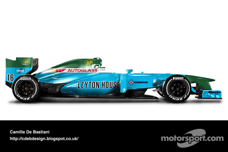 سيارة فورمولا واحد حديثة بألوان مارش 1991