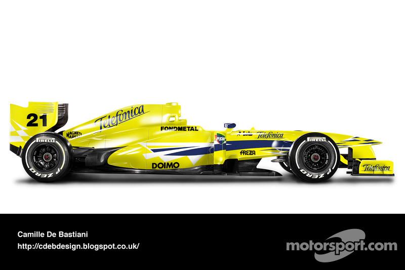 Carro de F1 retrô - Minardi 2000