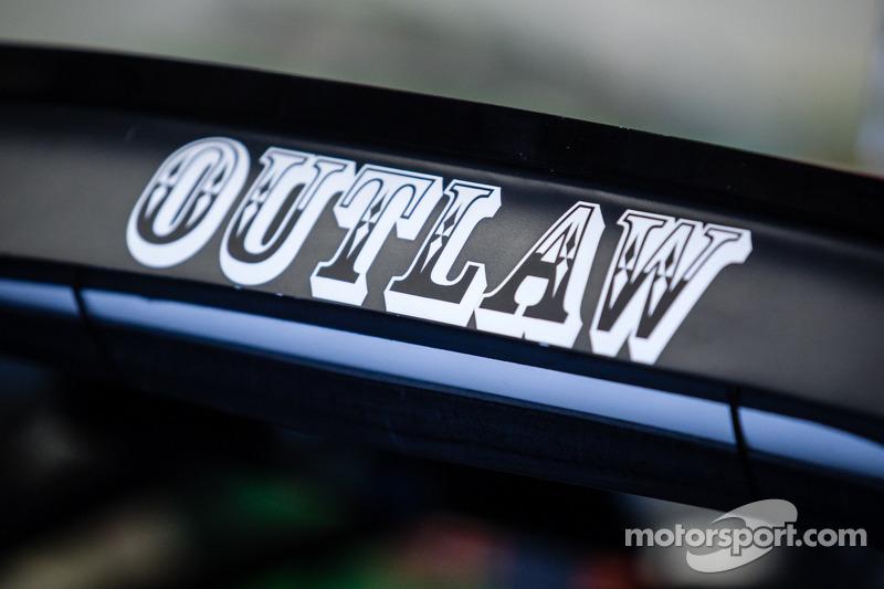 Driver name on the car of Kurt Busch, Stewart-Haas Racing Chevrolet