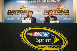 NASCAR President Mike Helton and Vice president for competition of NASCAR Robin Pemberton