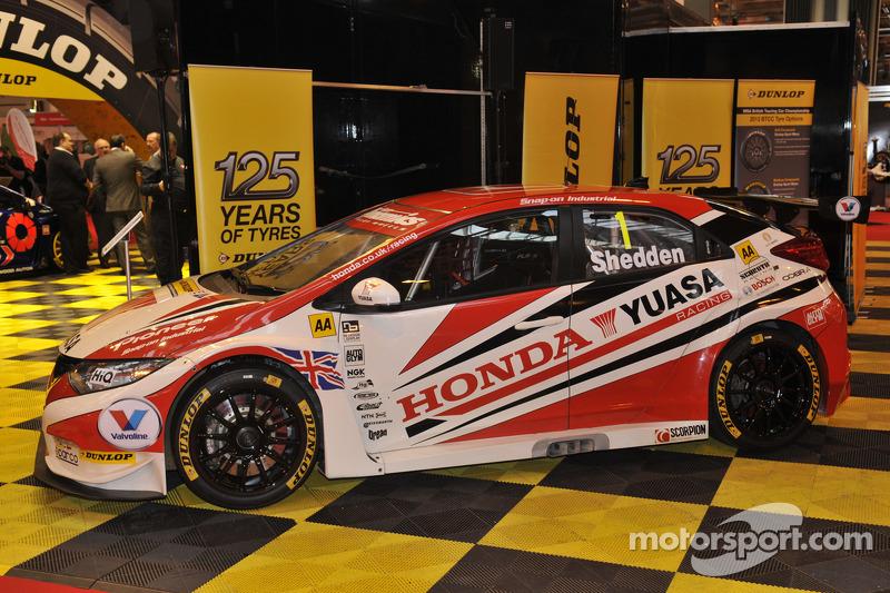 2013 BTCC Gordon Shedden Honda Yuasa Racing Civic