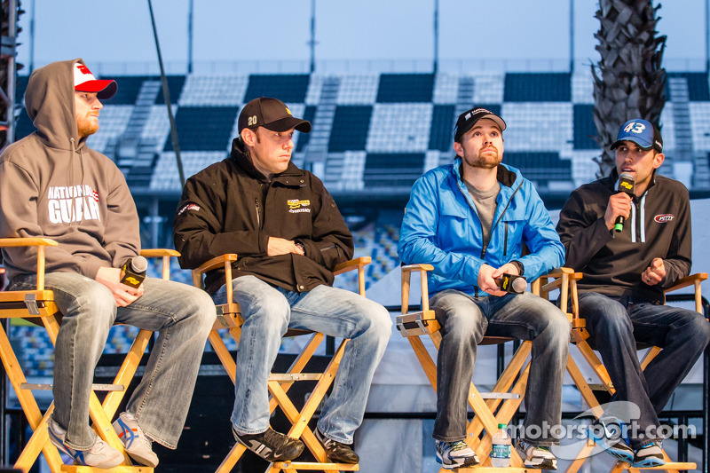 Pilot forum: Dale Earnhardt Jr., Hendrick Motorsports Chevrolet, Matt Kenseth, Joe Gibbs Racing Toyota, Ricky Stenhouse Jr., Roush Fenway Racing Ford, Aric Almirola, Richard Petty Motorsports Ford