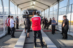 #48 Paul Miller Racing Audi R8 LMS at technical inspection