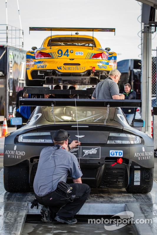 #009 TRG-AMR Aston Martin V12 Vantage at technical inspection