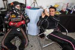 Roman Rusinov has fun with team members