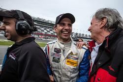 Race winner Christian Fittipaldi celebrates