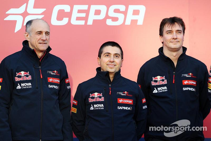 (Da sinistra a destra): Franz Tost, Scuderia Toro Rosso Team Principal; Luca Furbatto, Scuderia Toro