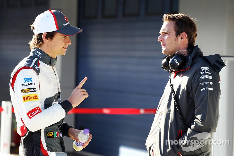(L to R): Esteban Gutierrez, Sauber with Giedo van der Garde, Sauber Reserve Driver