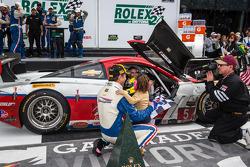 Race winner #5 Action Express Racing Corvette DP Chevrolet: Joao Barbosa, Christian Fittipaldi, Sébastien Bourdais enters victory lane