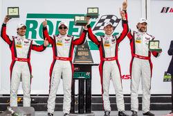 GTD victory lane: class winners Nelson Canache, Spencer Pumpelly, Tim Pappas, Markus Winkelhock
