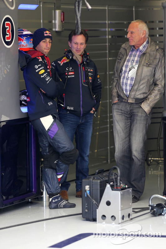 Daniel Ricciardo, Red Bull Racing, Christian Horner, Red Bull Racing, Sporting Director and Dietrich