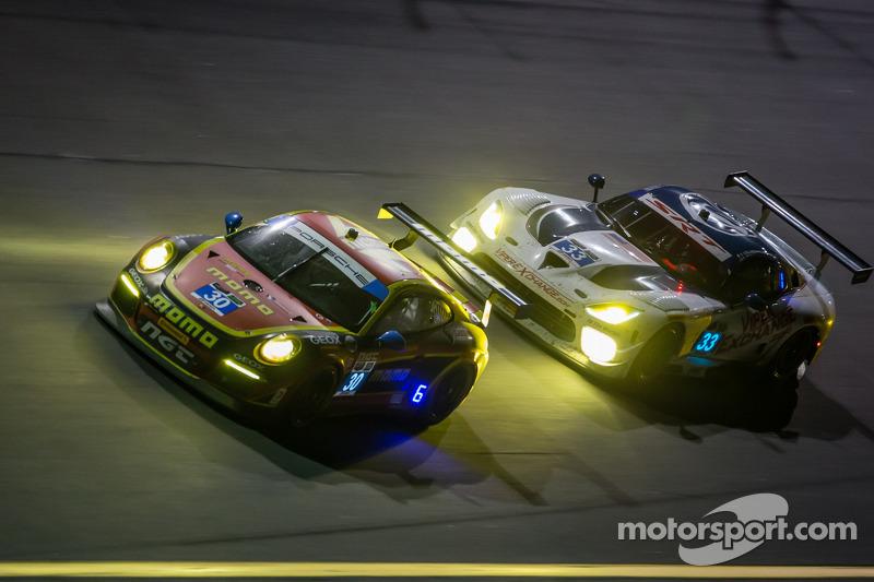 #30 NGT Motorsport 保时捷 911 GT America: 恩里克·西斯内罗斯, 克里斯蒂娜·尼尔森, 尼基·蒂姆, 库巴·吉尔马兹亚克, #33 Riley Motorsports SRT 蝰蛇 GT3-R: 本·基廷, 杰伦·布勒克莫伦, 塞巴斯蒂安·布勒克莫伦, 艾曼纽尔·科拉尔
