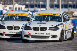 #11 Mitchum Motorsports BMW 128i: Pete McIntosh, Michael Johnson and #10 Mitchum Motorsports BMW 128i: Dylan Murcott, Dillon Machavern