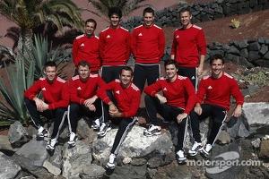 LM P1 Audi drivers group photo