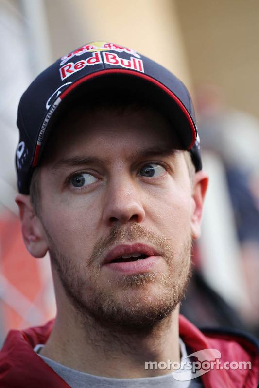 Sebastian Vettel, Red Bull Racing, mit der Presse