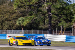 #4 Corvette Racing Chevrolet Corvette C7.R: Oliver Gavin, Tom Milner and #46 Fall-Line Motorsports Audi R8 LMS: Charles Putnam, Charles Espenlaub, Christopher Mies