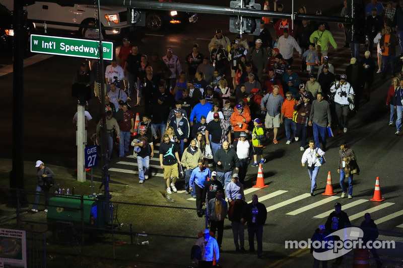 Fans return to the track