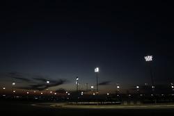Sebastian Vettel, Red Bull Racing RB10 running under the lights at night time