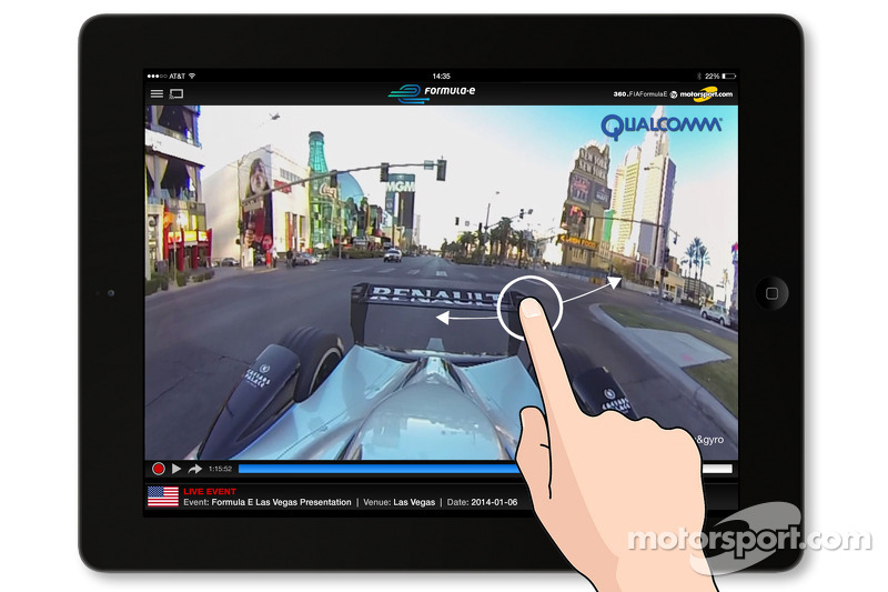 360 Lab testing its system during the Formula E reveal at Las Vegas CES 2014