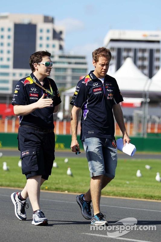 Trackwalk: Sebastian Vettel, Red Bull Racing