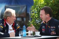 (Soldan Sağa): Dr Helmut Marko, Red Bull Motorsporları Danışmanı ve Christian Horner, Red Bull Racing Takım Patronu