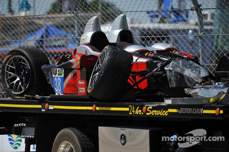 # 38 Prestazioni Tech Motorsports ORECA FLM09 Chevrolet, incidentata: Charlie Shears, Raphael Matos, David Ostella