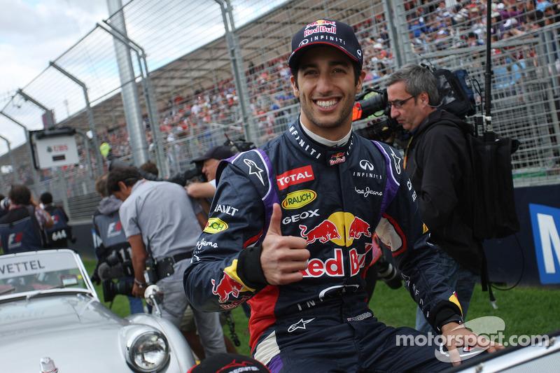 Daniel Ricciardo, Red Bull Racing pilot geçiş töreninde