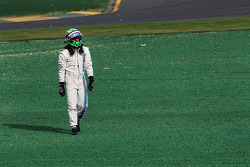 Felipe Massa, Williams crashed out at the start of the race