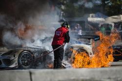 33号瑞雷SRT车队Viper GT3-R赛车大火