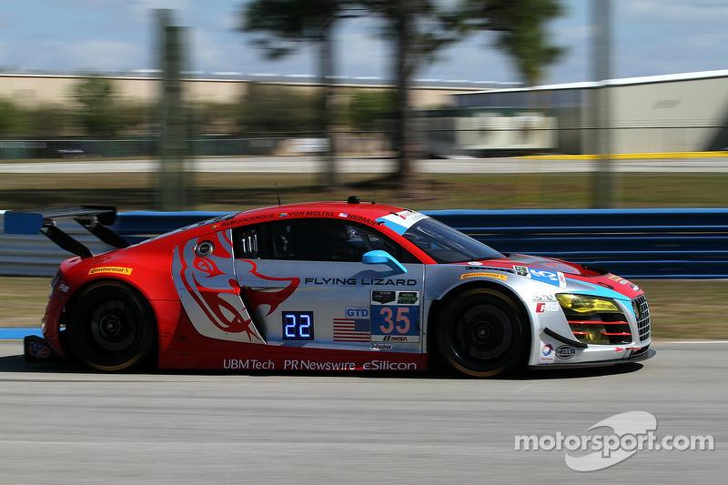 #35 Flying Lizard Motorsports Audi R8 LMS: Seth Neiman, Dion von Moltke, Alessandro Latif, Filipe Albuquerque