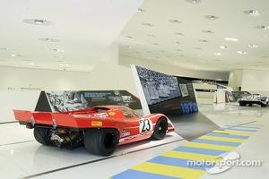 Le Mans display at the Porsche Museum in Stuttgart