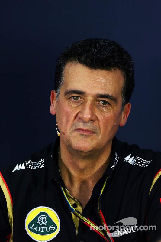 Federico Gastaldi, Lotus F1 Team Deputy Team Principal in the FIA Press Conference