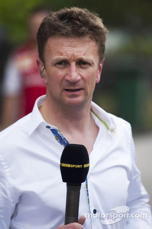 Allan McNish, apresentador da BBC F1
