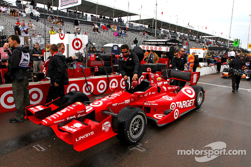 The car of Tony Kanaan, Target Chip Ganassi Racing Chevrolet