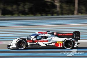 #1 Audi Sport Joest Audi R18 e-tron quattro: Tom Kristensen, Loic Duval, Lucas di Grassi