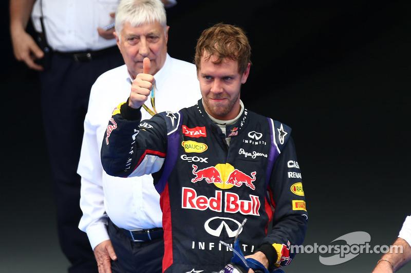 Terzo posto Sebastian Vettel, Red Bull Racing