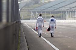 Paul Di Resta, Mercedes AMG DTM-Team HWA DTM Mercedes AMG C-Coupe and Gary Paffett, Mercedes AMG DTM-Team HWA DTM Mercedes AMG C-Coupe
