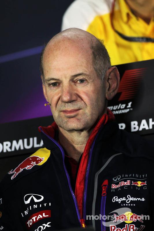 Adrian Newey, engenheiro da Red Bull na coletiva de imprensa