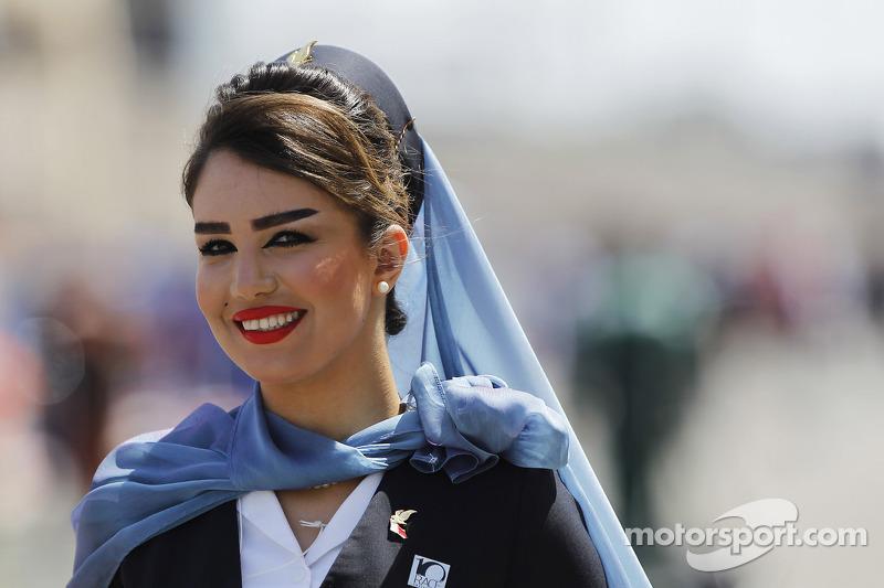 A Gulf Air hostess