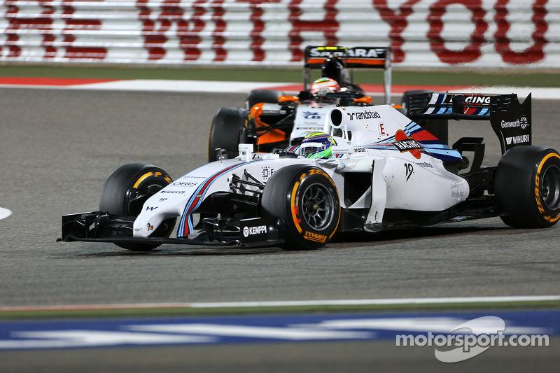 Felipe Massa, Williams F1 Team and Sergio Perez, Sahara Force India  06