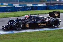 Martin Brundle driving Ayrton Senna's Lotus 98T